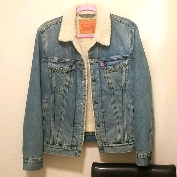 New denim Levis sherpa jacket